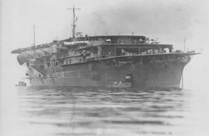 Авианосец «Кага» (яп. 加賀) Неподалеку от Икари, 1930 г.